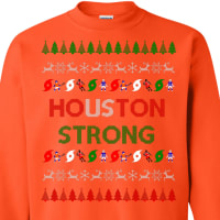 Houston orange ugly sweater