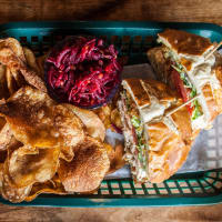 Local Foods crunch chicken sandwich