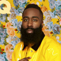 James Harden GQ flower cover Twitter May 2018 cover fashion
