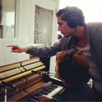 """Nathan Felix directs pianist Anna Larson in performing """"Adagietto."""""""