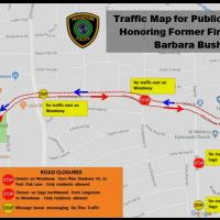 HPD Barbara Bush road closures map