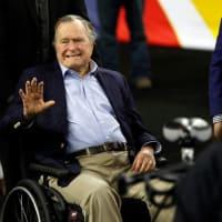 george hw bush wheelchair