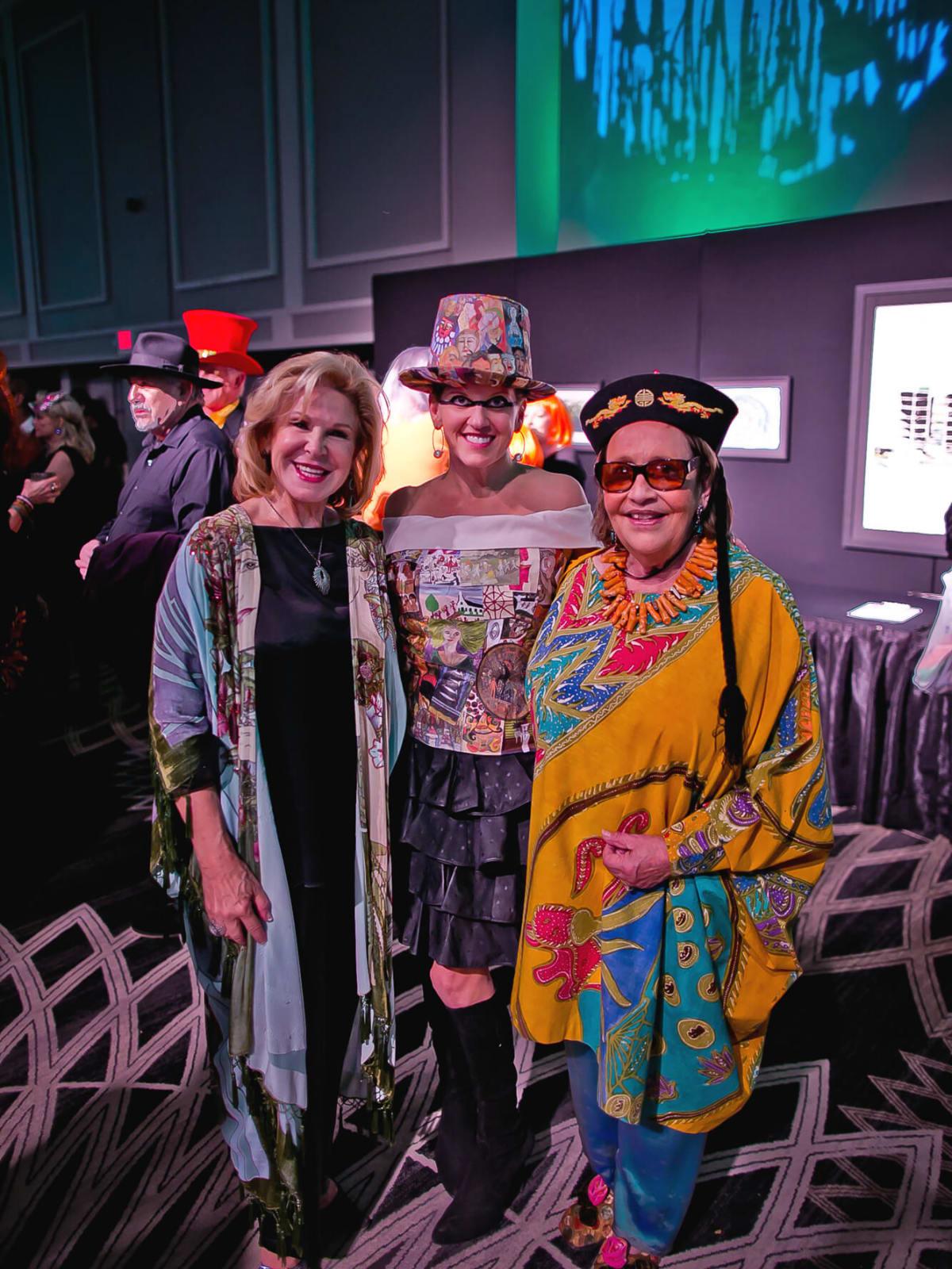 Jo Reid, Ashley Langley, Marilyn Oshman at Orange Show Gala