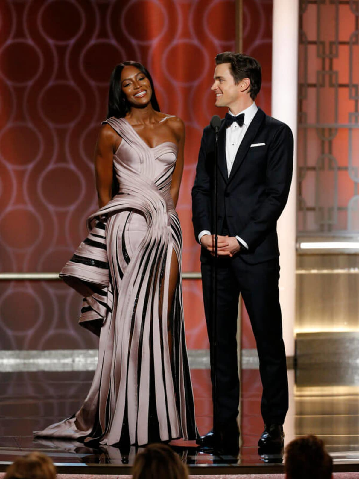 Naomi Campbell, Matt Bomer at Golden Globe