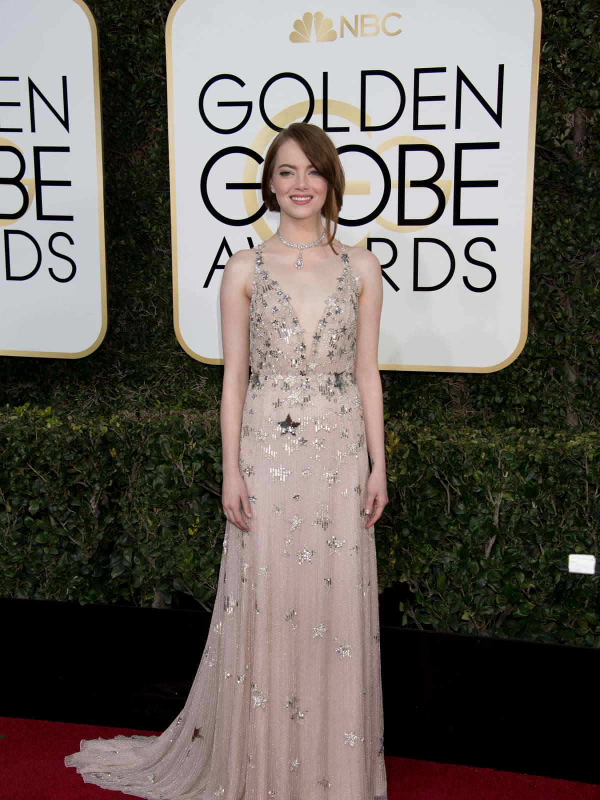 Emma Stone at Golden Globes 2017