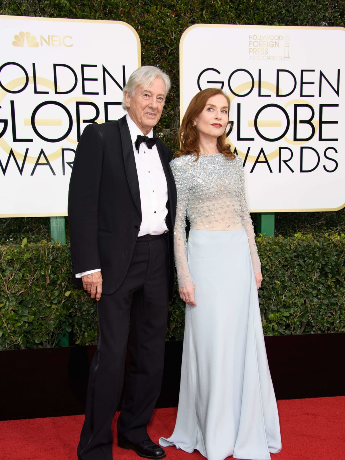 Paul Verhoeven, Isabelle Huppert at Golden Globes 2017