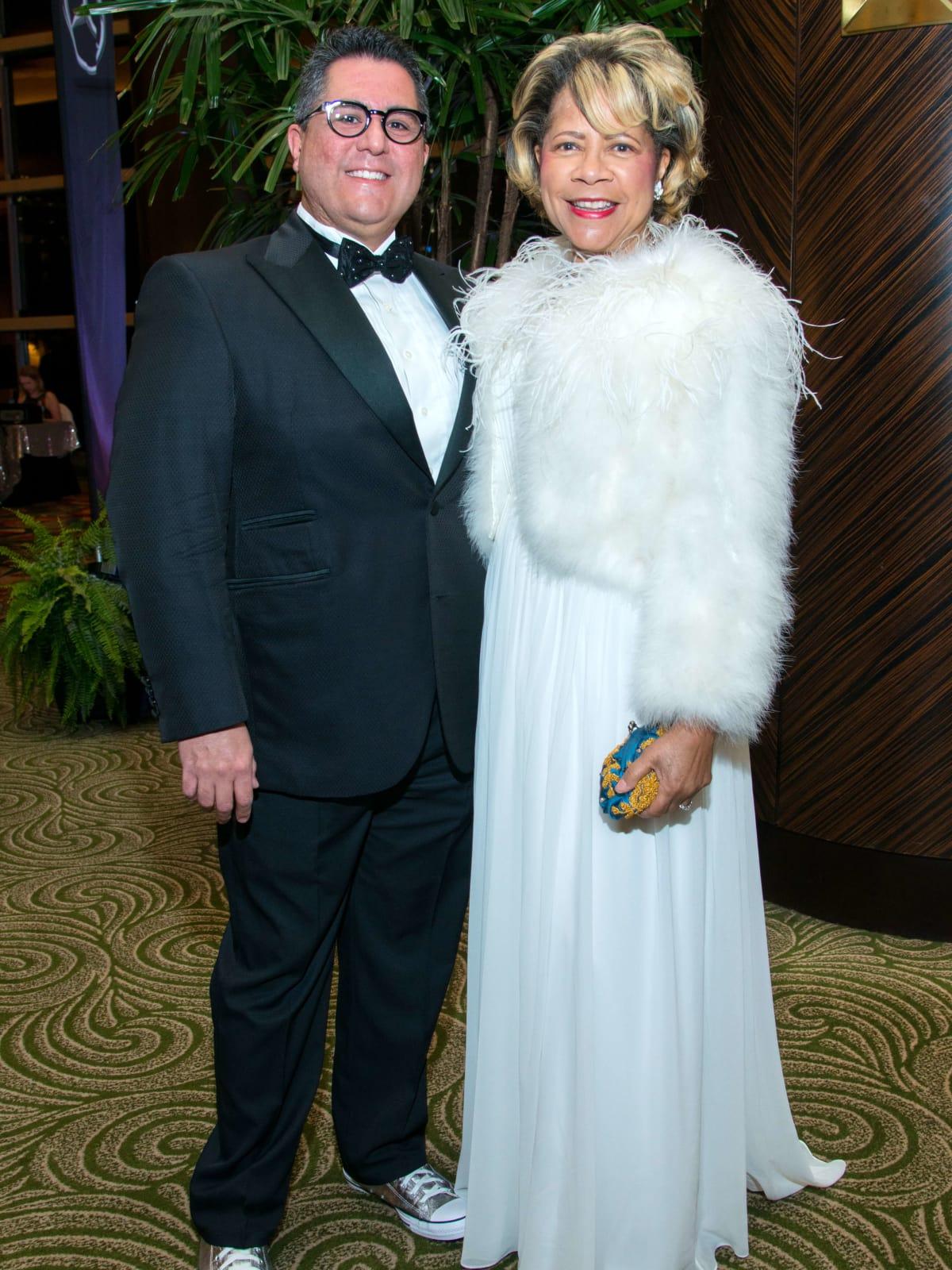 Houston, Women of Distinction fashionable gowns, Feb 2017, Dr Roland Maldonado, Merele Yarborough