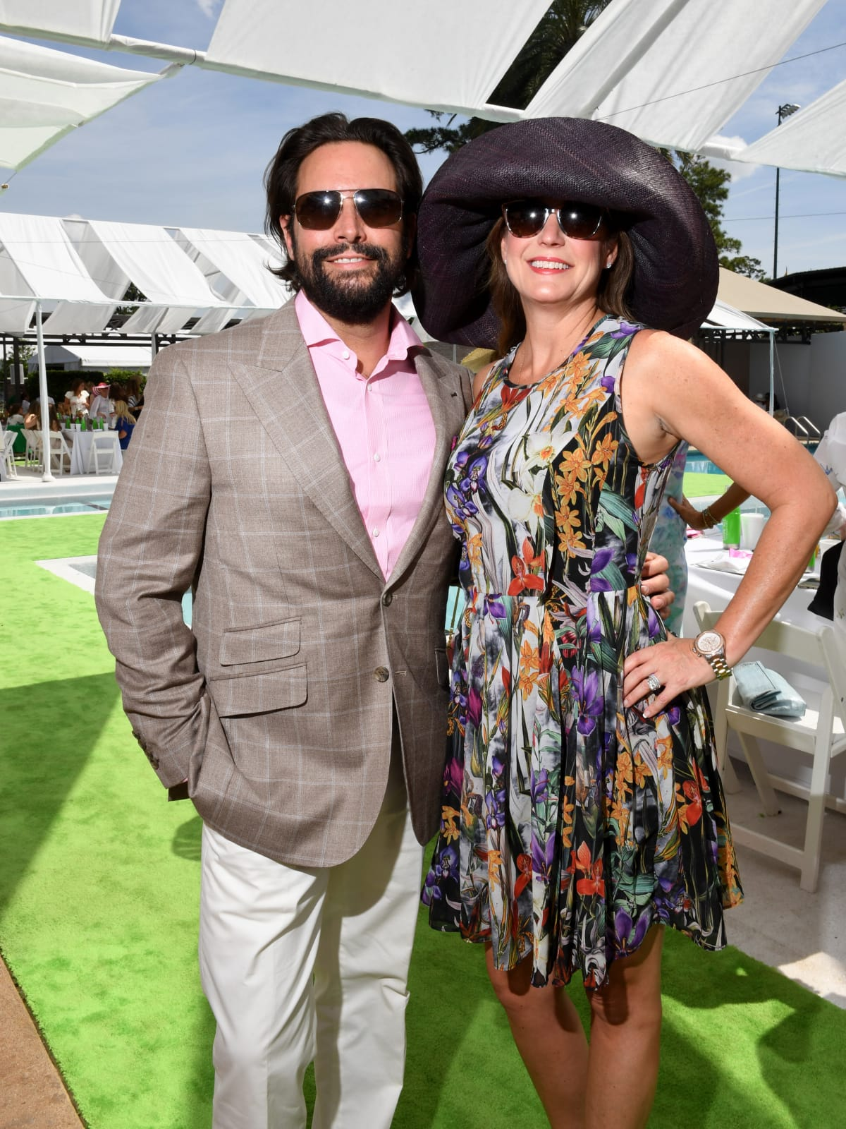 Houston, River Oaks and Tootsies tennis tournament luncheon, April 2017, Sam Governale, Tina Governale.