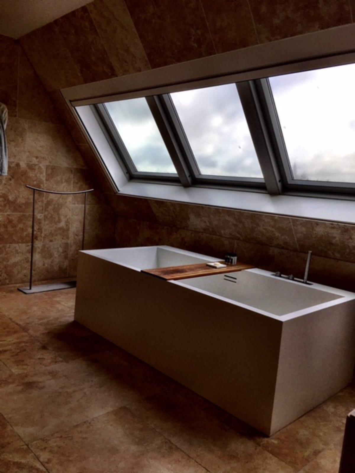 hotel bathtub