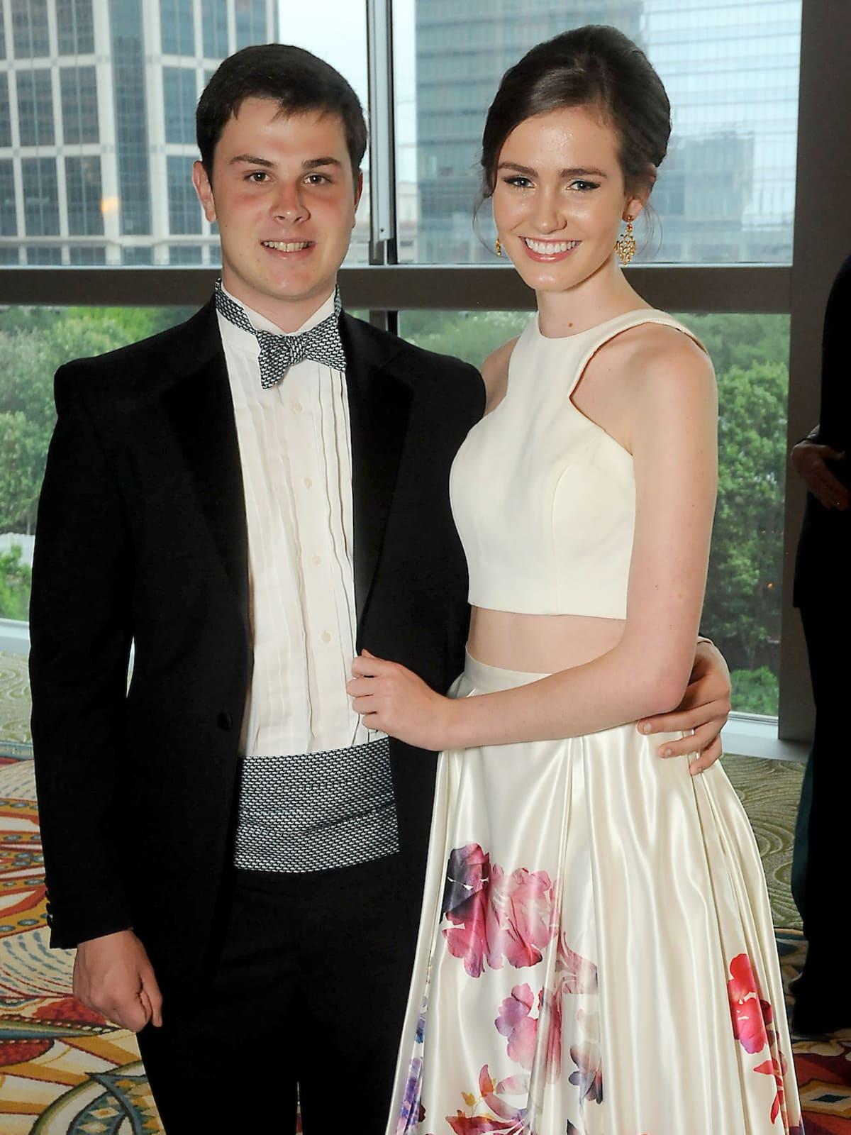 Matthew Garrett and Ella Rose Arnold at Memorial Hermann Gala