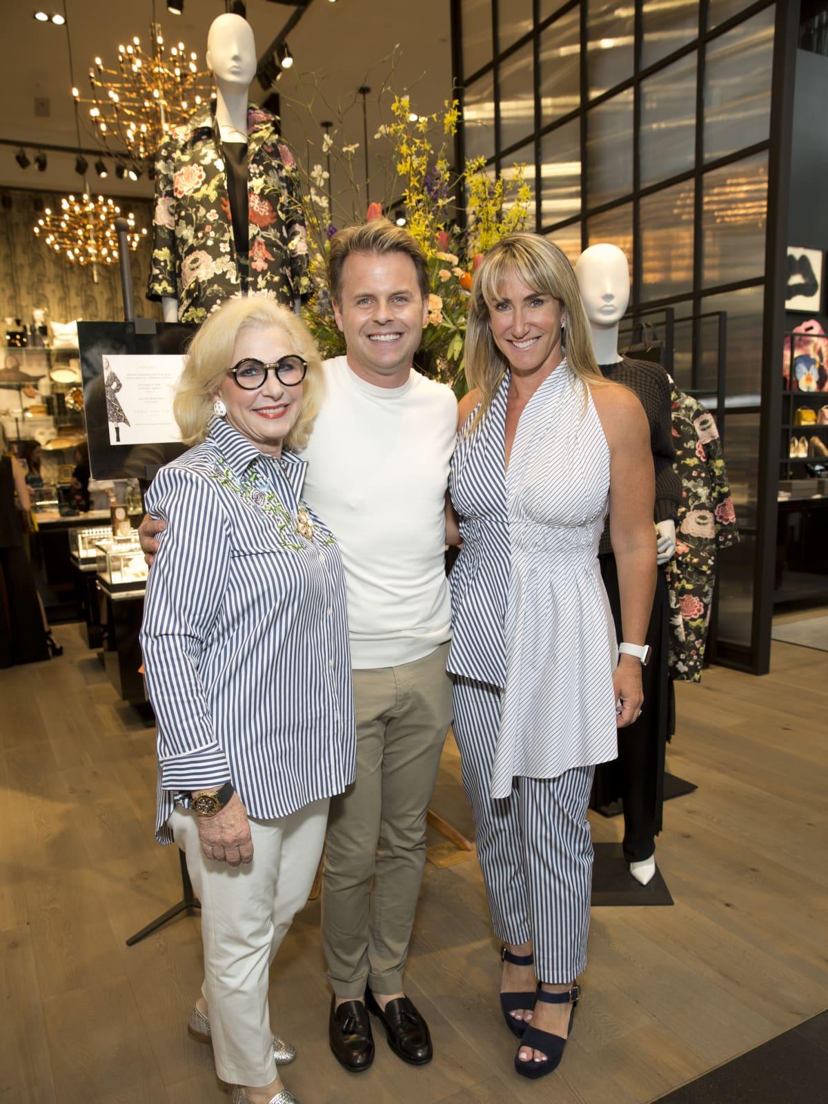 Elyse Lanier, Adam Lippes, Courtney Sarofim at Forty Five Ten Houston