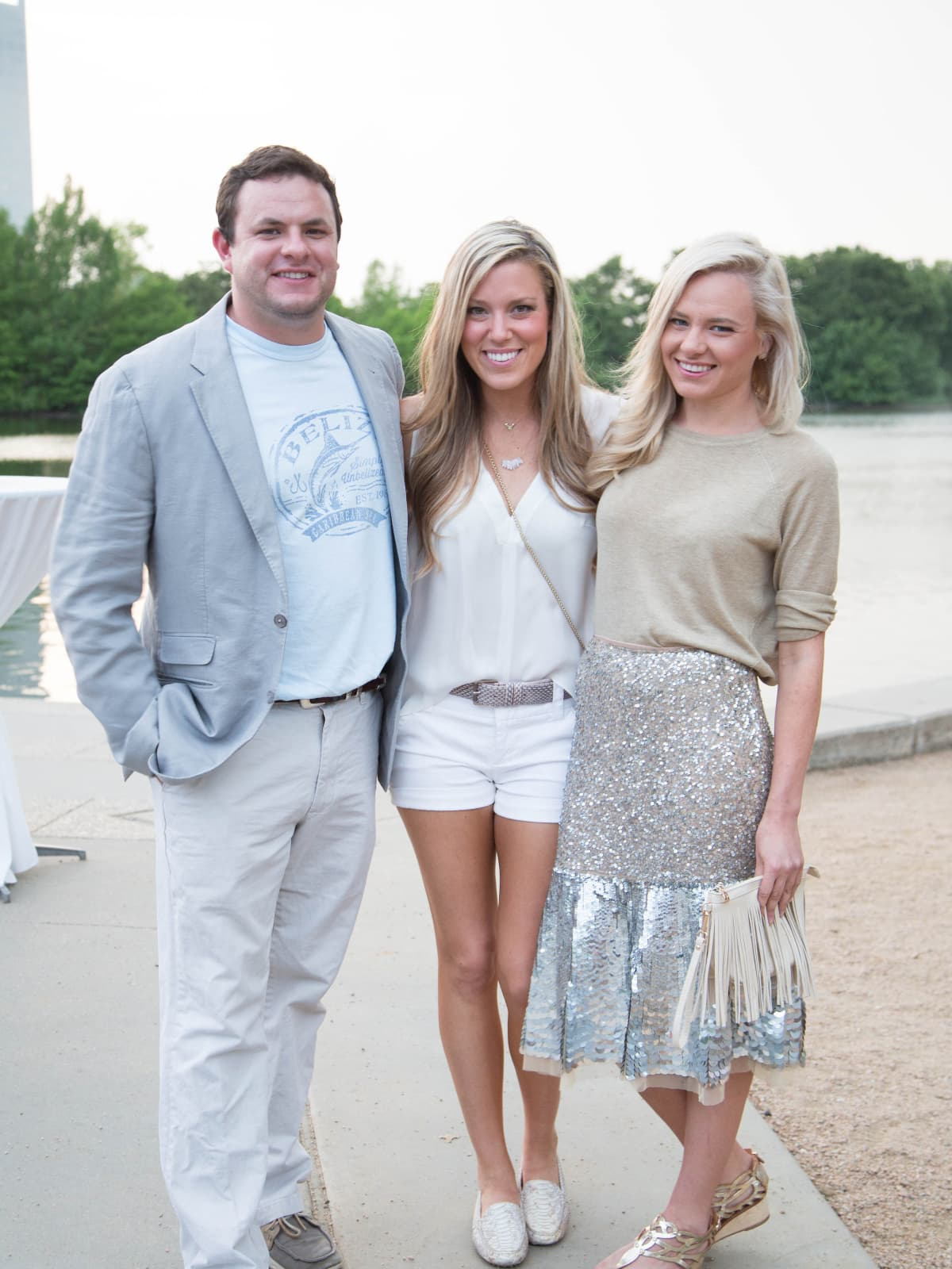 Austin Taylor, Holly Alvis, Christianne Taylor at Urban Green Overboard party