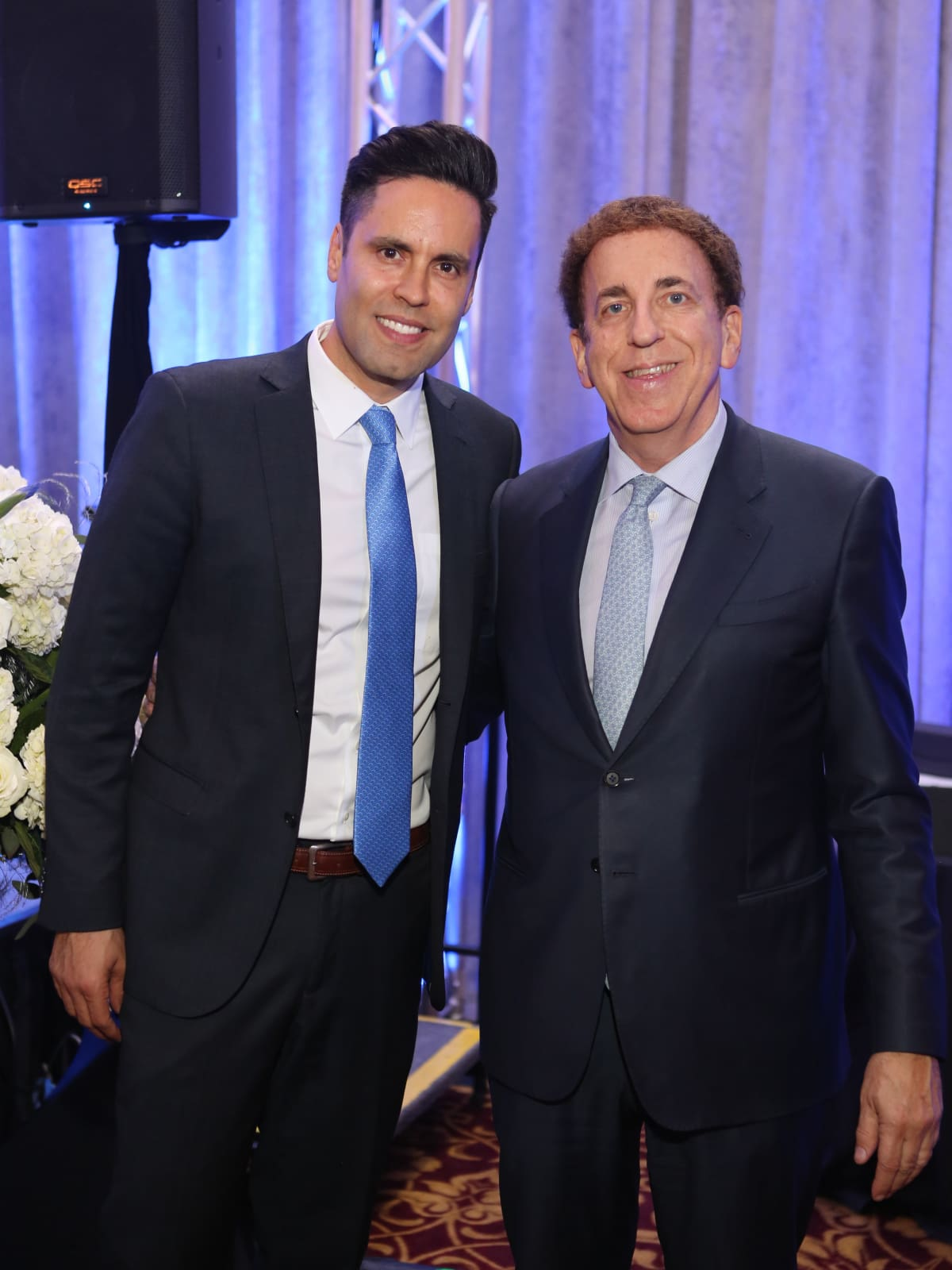 Blue Cure Gala, April 2016, Gabe Canales, Dr. Dean Ornish