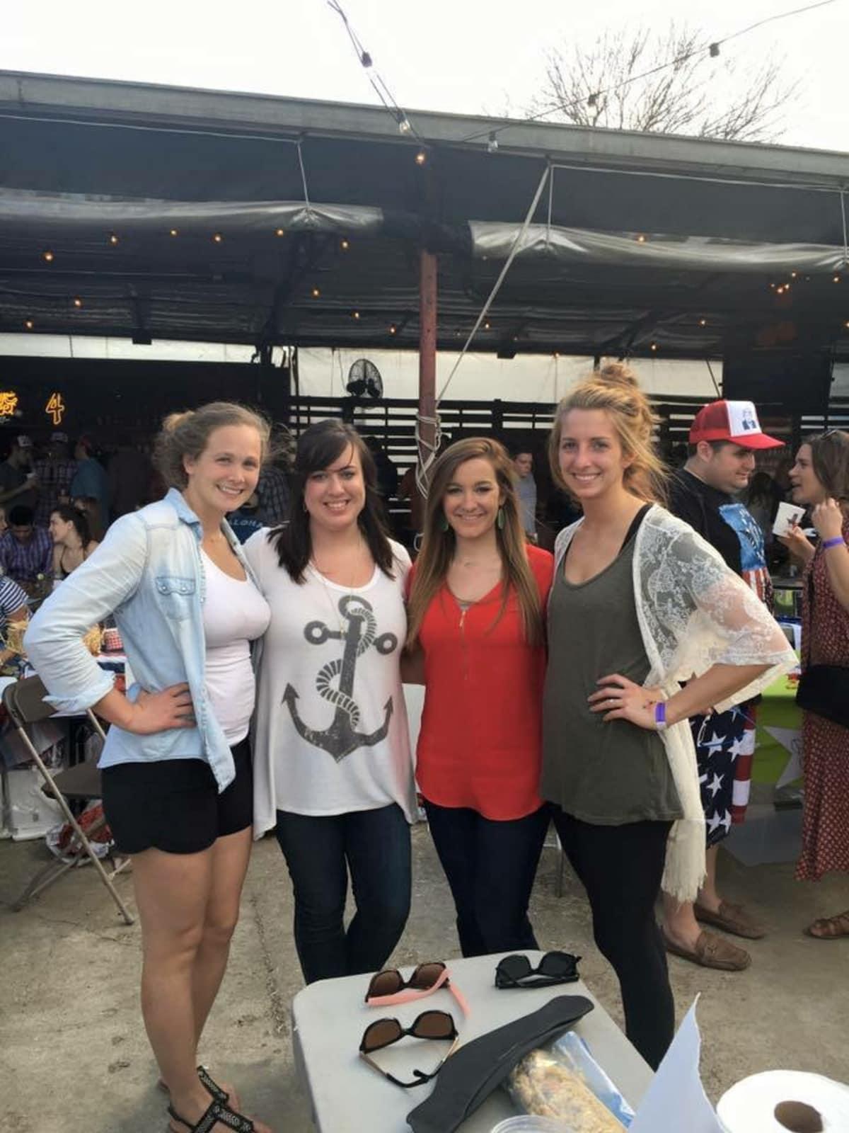 Casa de Esperanza chili cook-off, March 2016, Heather Darr, Sarah Owens, Ally Hatz, Becca Elise