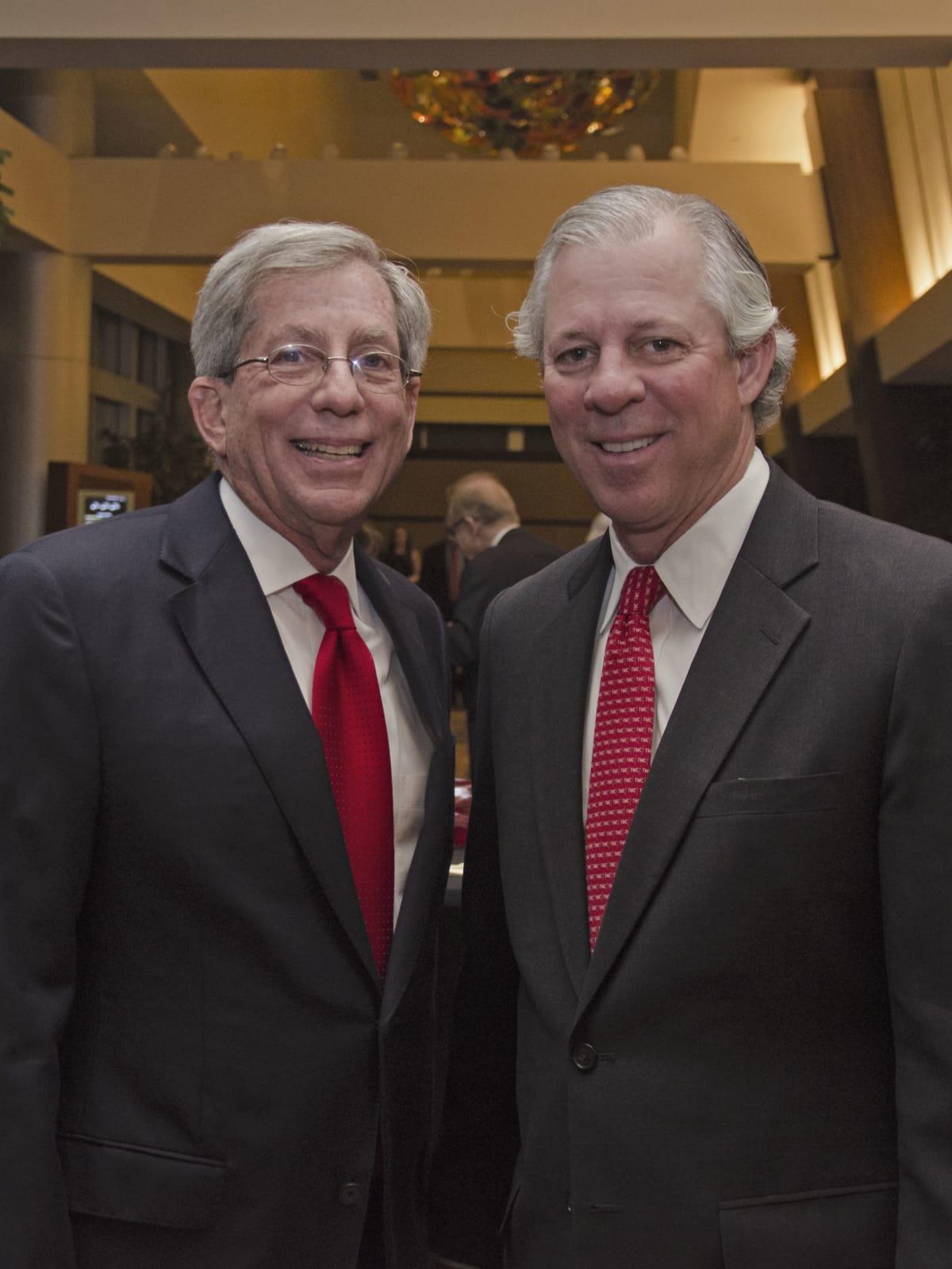 Texas Heart Institute dinner, Feb. 2016, Fred Zeidman, Dr. Robert Robbins
