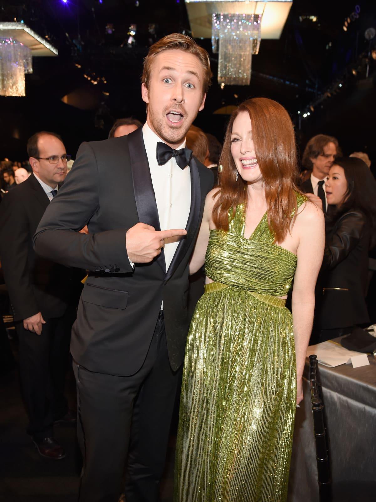 Ryan Gosling and Julianne Moore at Screen Actors Guild Awards