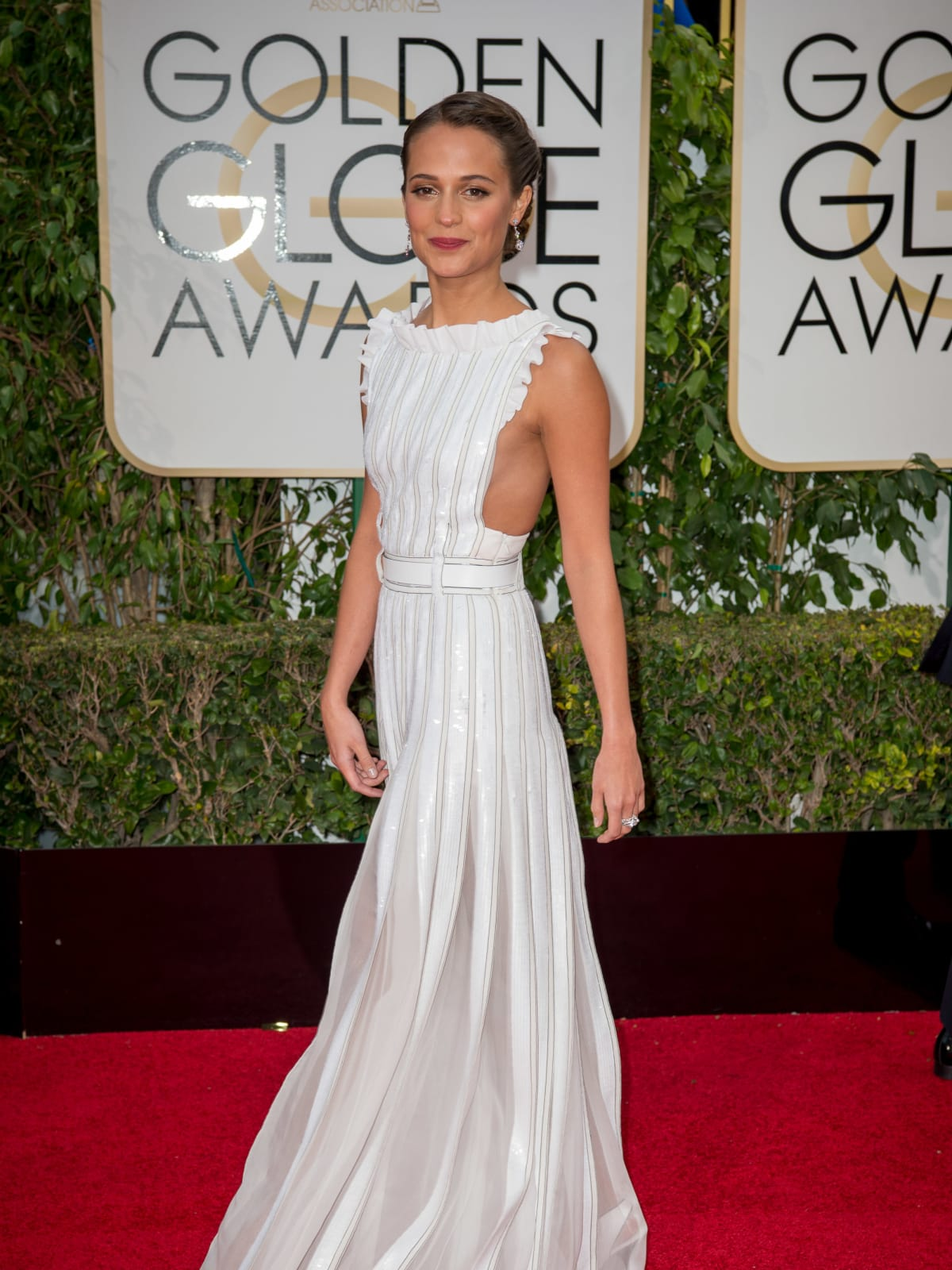 Alicia Vikander at Golden Globe Awards