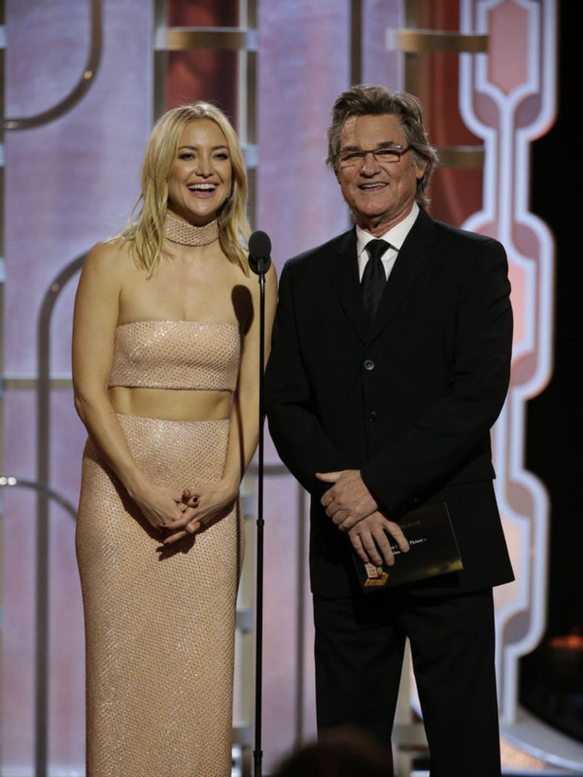 Kate Hudson and Kurt Russell at Golden Globe