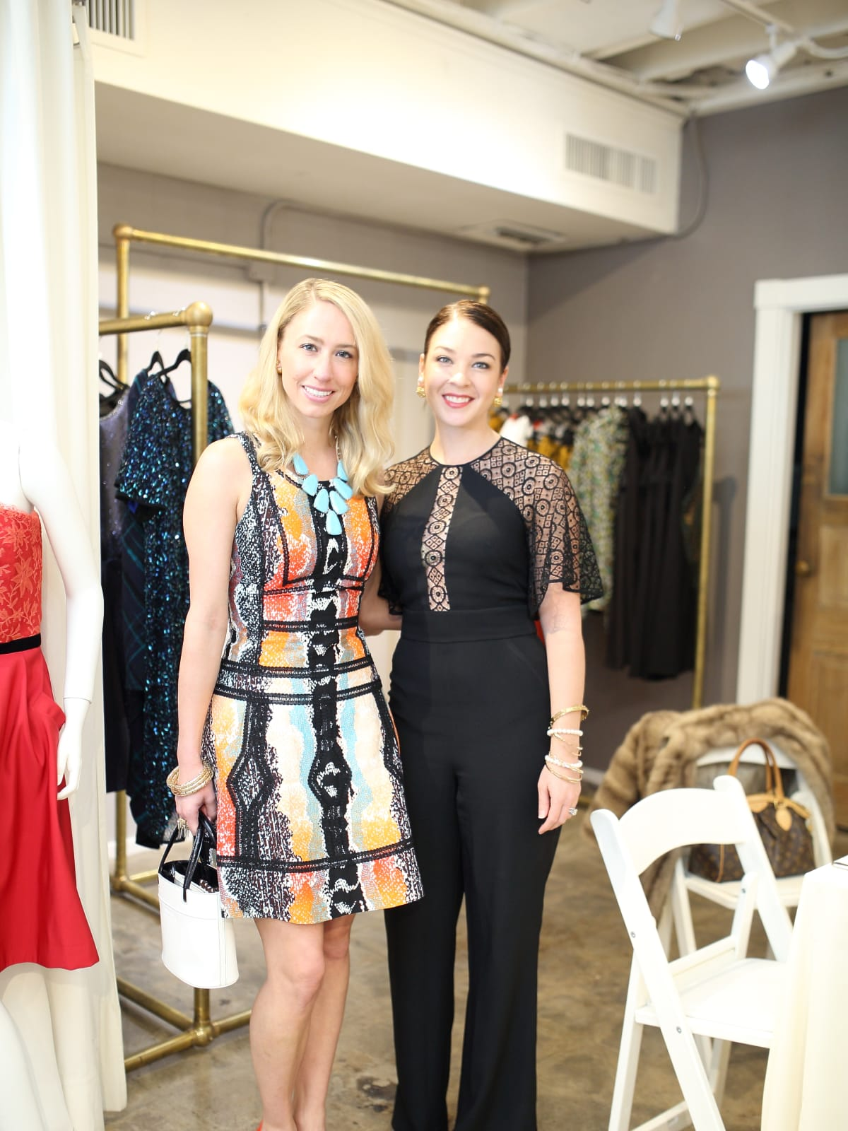 Ashley Seippel and Jacquel Andrews at Miles David fashion show