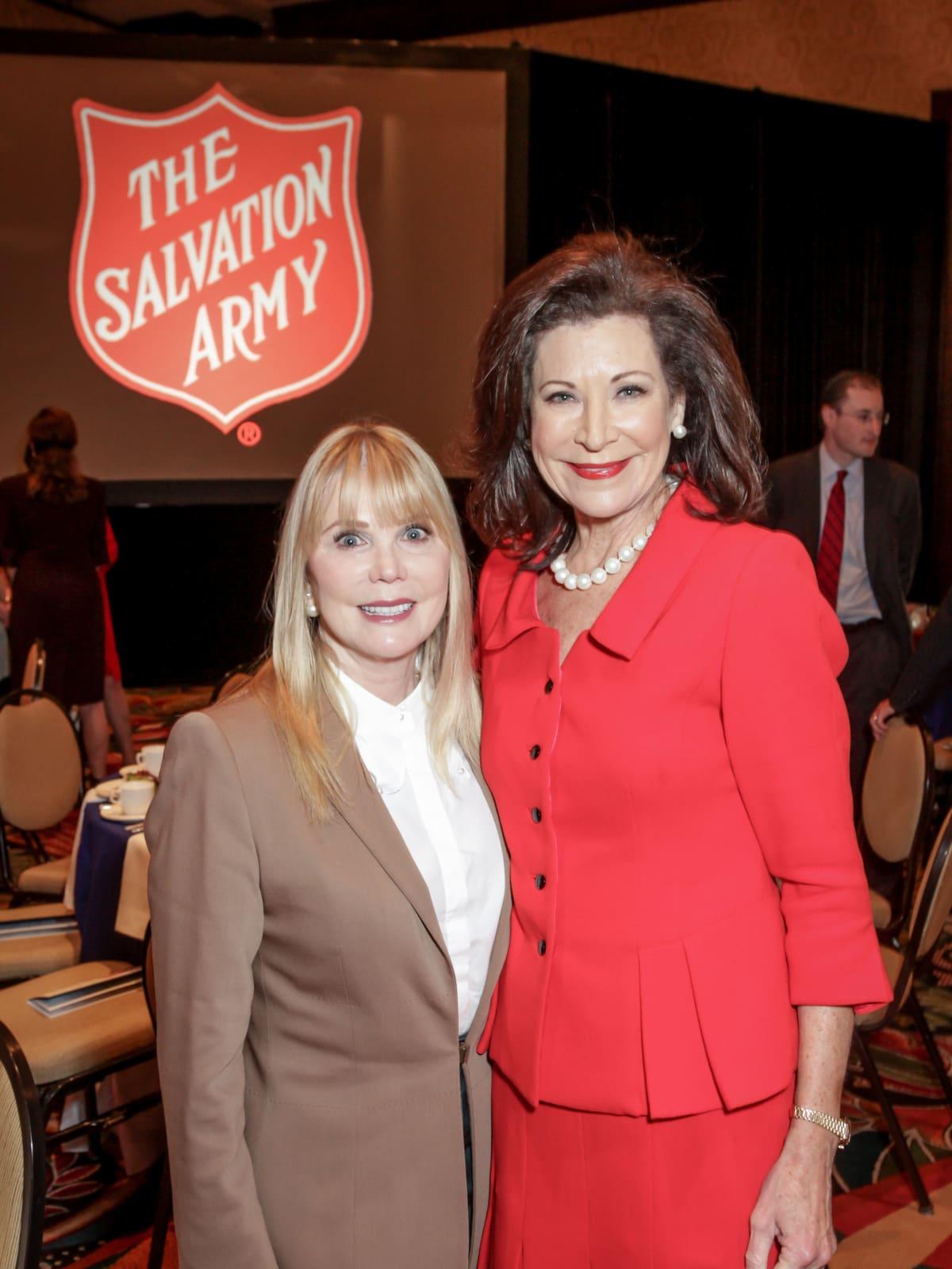 News, Shelby, Salvation Army luncheon, Nov. 2015, Brenda Love, Betty Hrncir