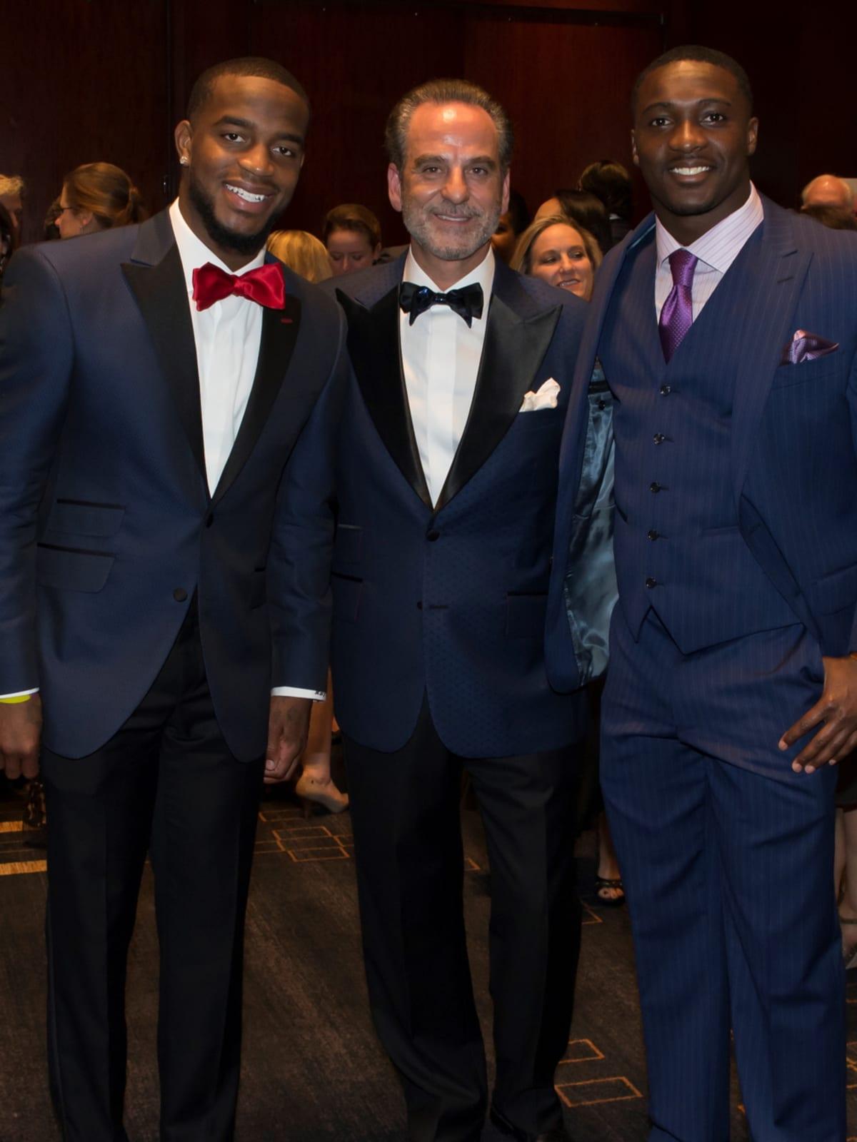 Una Notte in Italia Houston Texan Kareem Jackson, Rudy Festari, Houston Texan Andre Hal