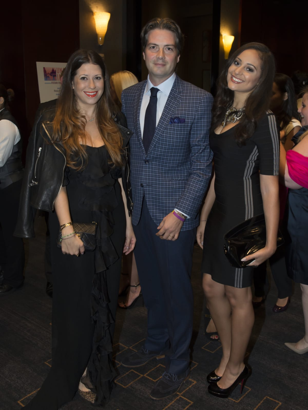 Una Notte in Italia Ally and Martijn van Koolwijk with Jasmine Long