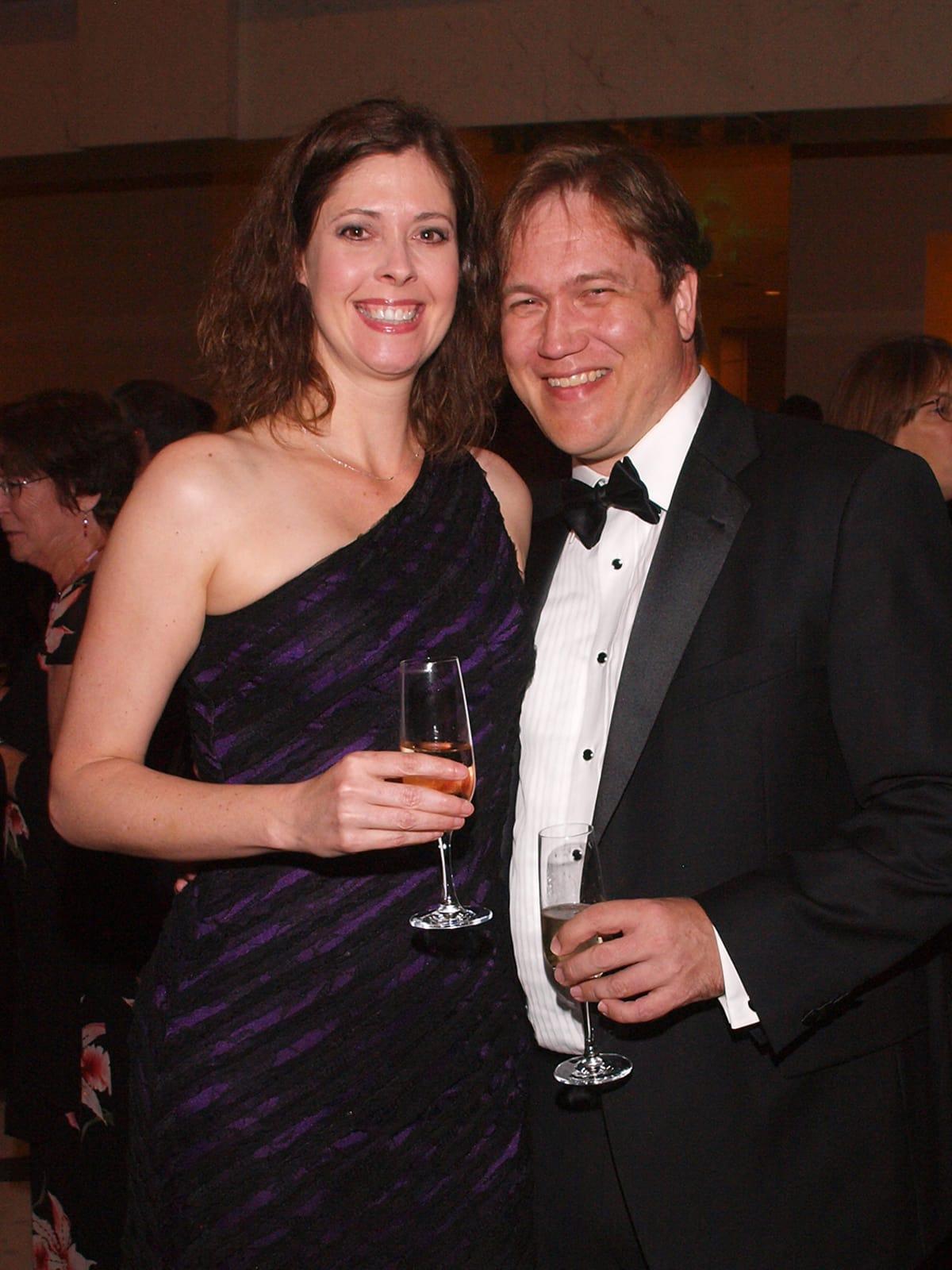 Welch Foundation banquet Christy Landes, Stephan Link