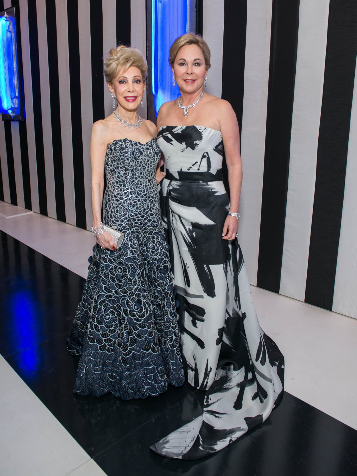 News, Shelby, MFAH gala gowns, Oct. 2015 Margaret Williams in Carolina Herrera, Nancy Kinder in Rueben Singer