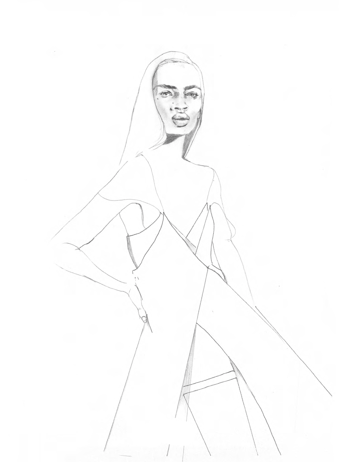 Area inspiration sketch New York Fashion Week spring 2016