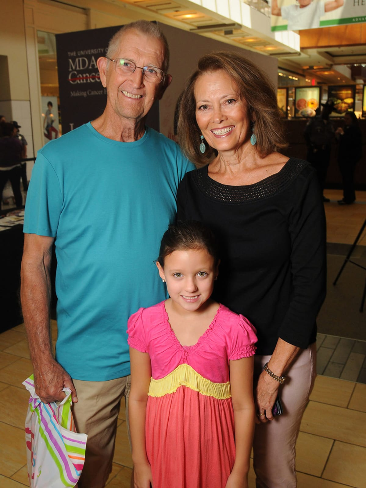 News, Shelby, MD Anderson Back to School, August 2015, Bob and Margaret Gray, Payton Rusk