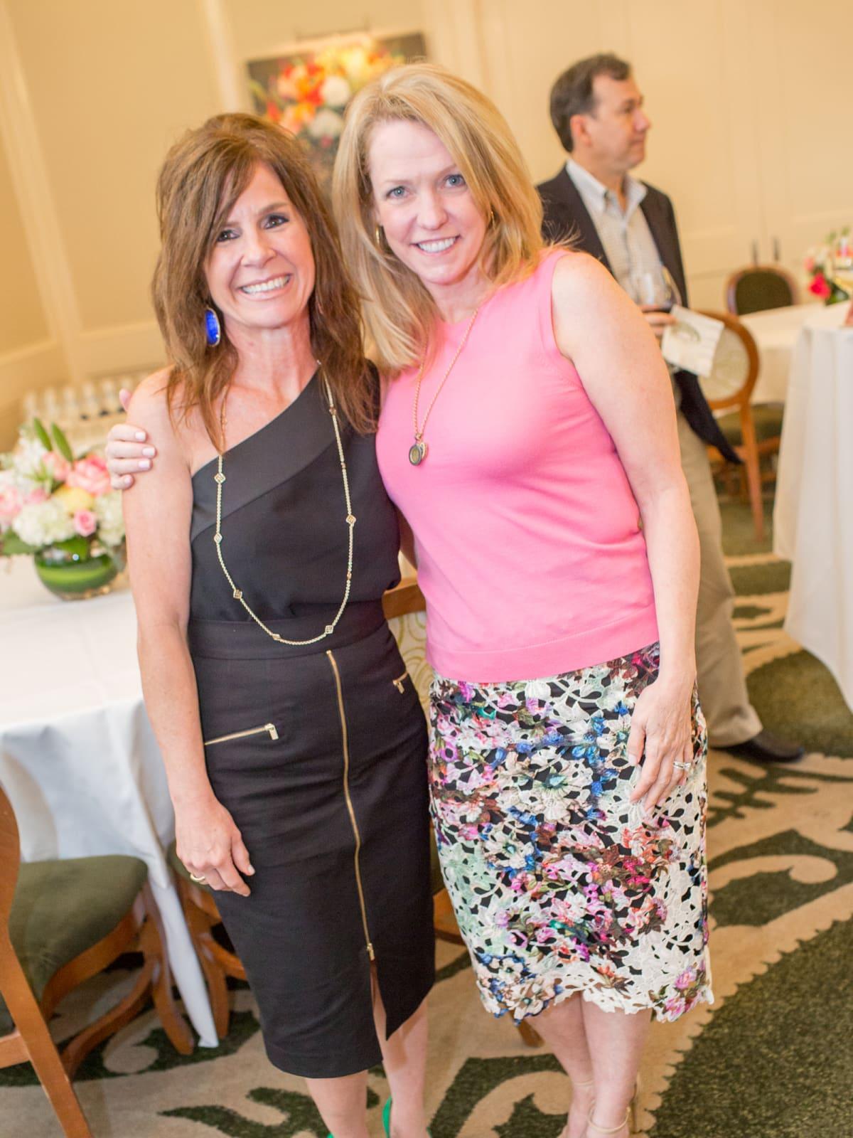 News, Shelby, Cheers 4 Charity kick-off, June 2015, Whitney McPhail, Robin Brennan-Martin