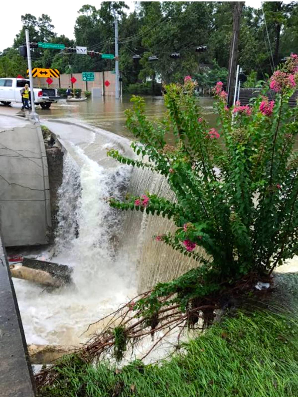 Houston, Hurricane Harvey, flood photos, Beltway 8 at Boheme