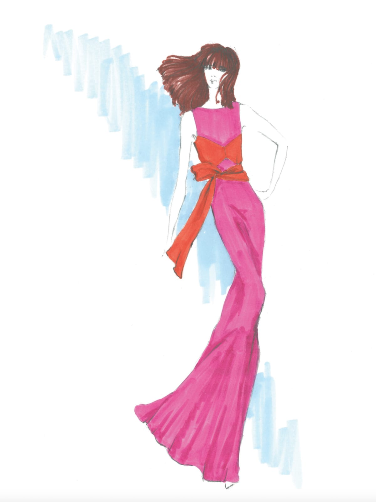 Kimora Lee Simmons inspiration sketch spring 2018