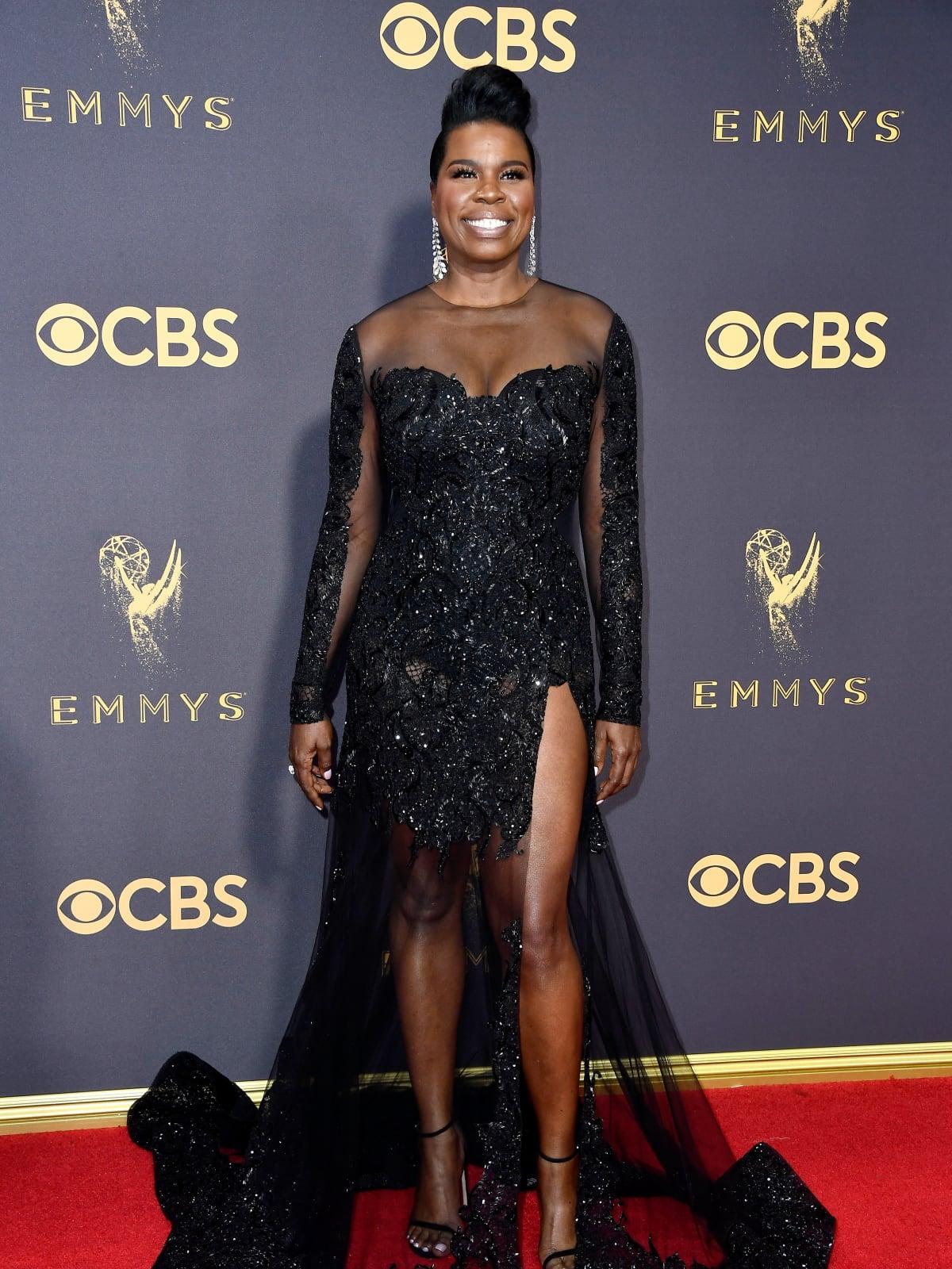 Leslie Jones in Christian Siriano at Emmy Awards 2017