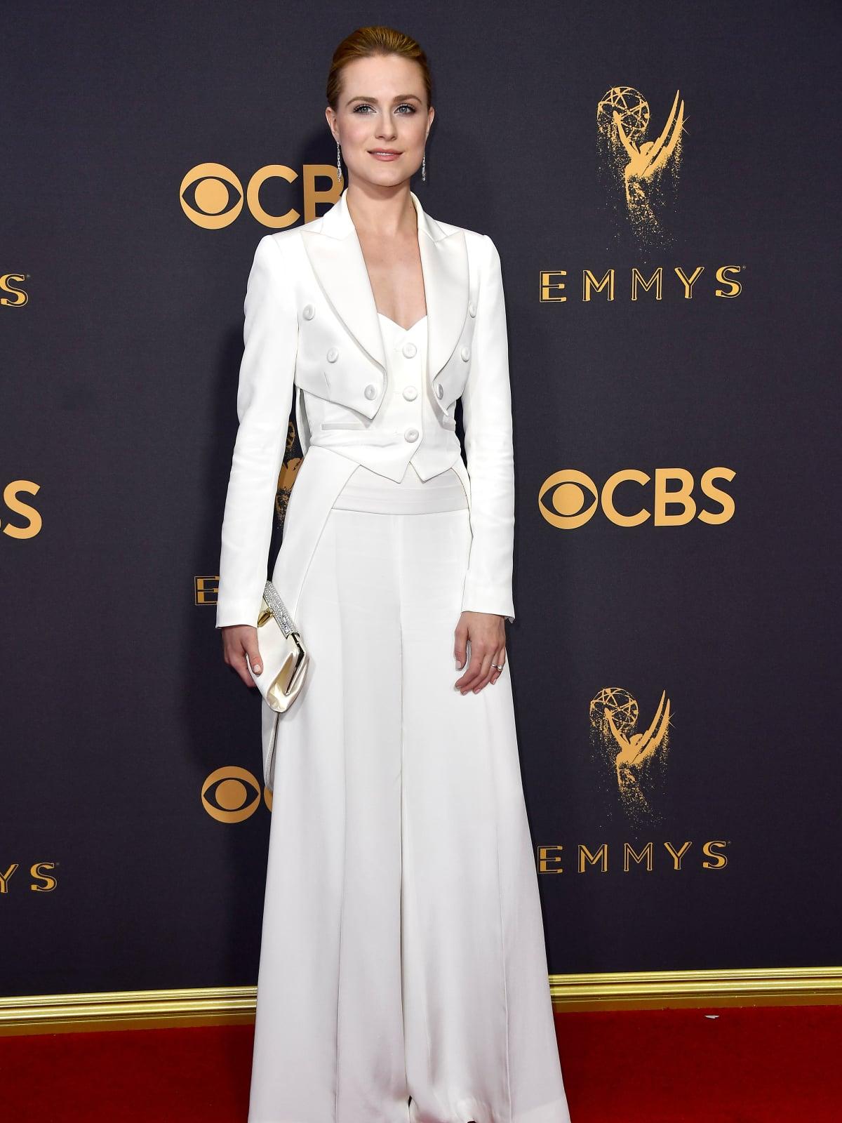 Evan Rachel Wood in Jeremy Scott at Emmy 2017