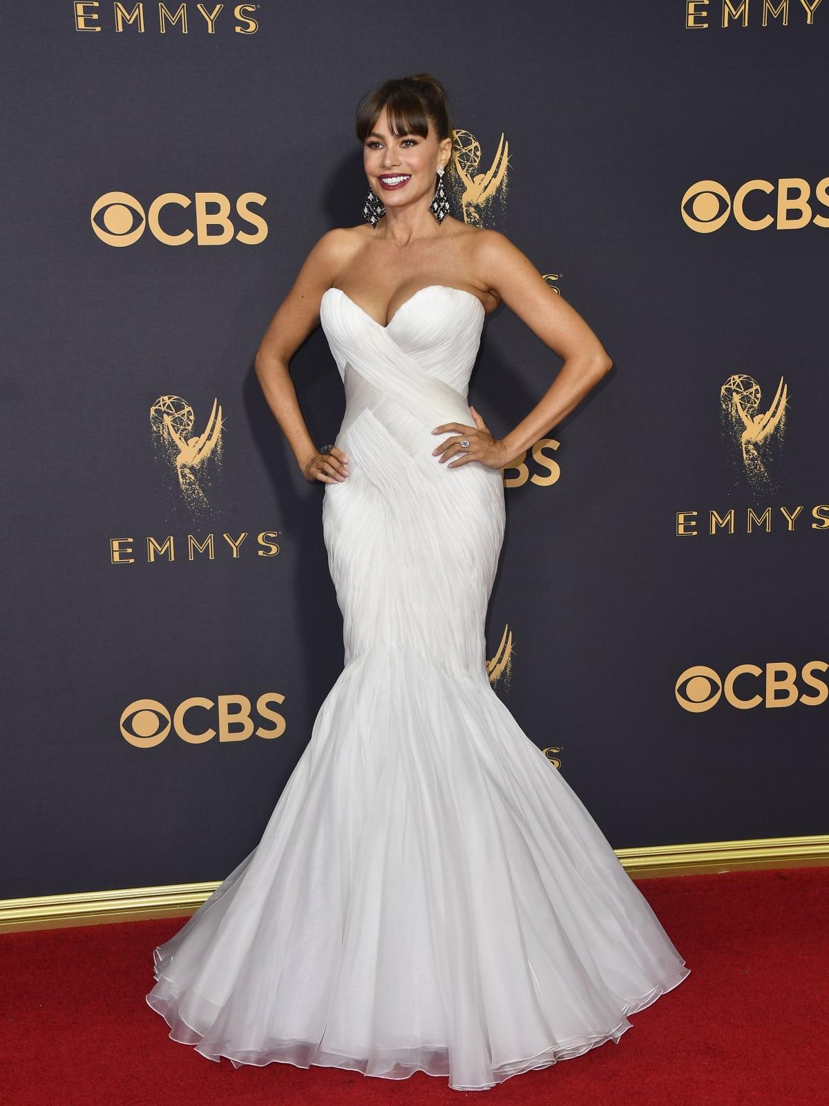 Sofia Vergara in a Marc Zunino gown at Emmy Awards 2017
