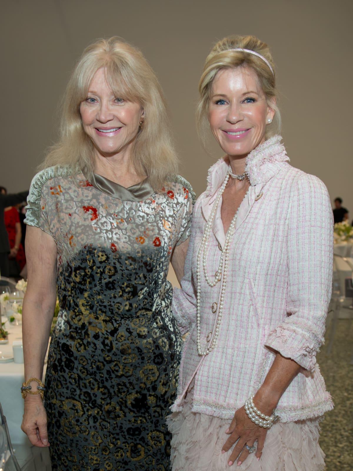 Astrid VanDyke, Penelope Wright at Oscar de la Renta fashion show at MFAH
