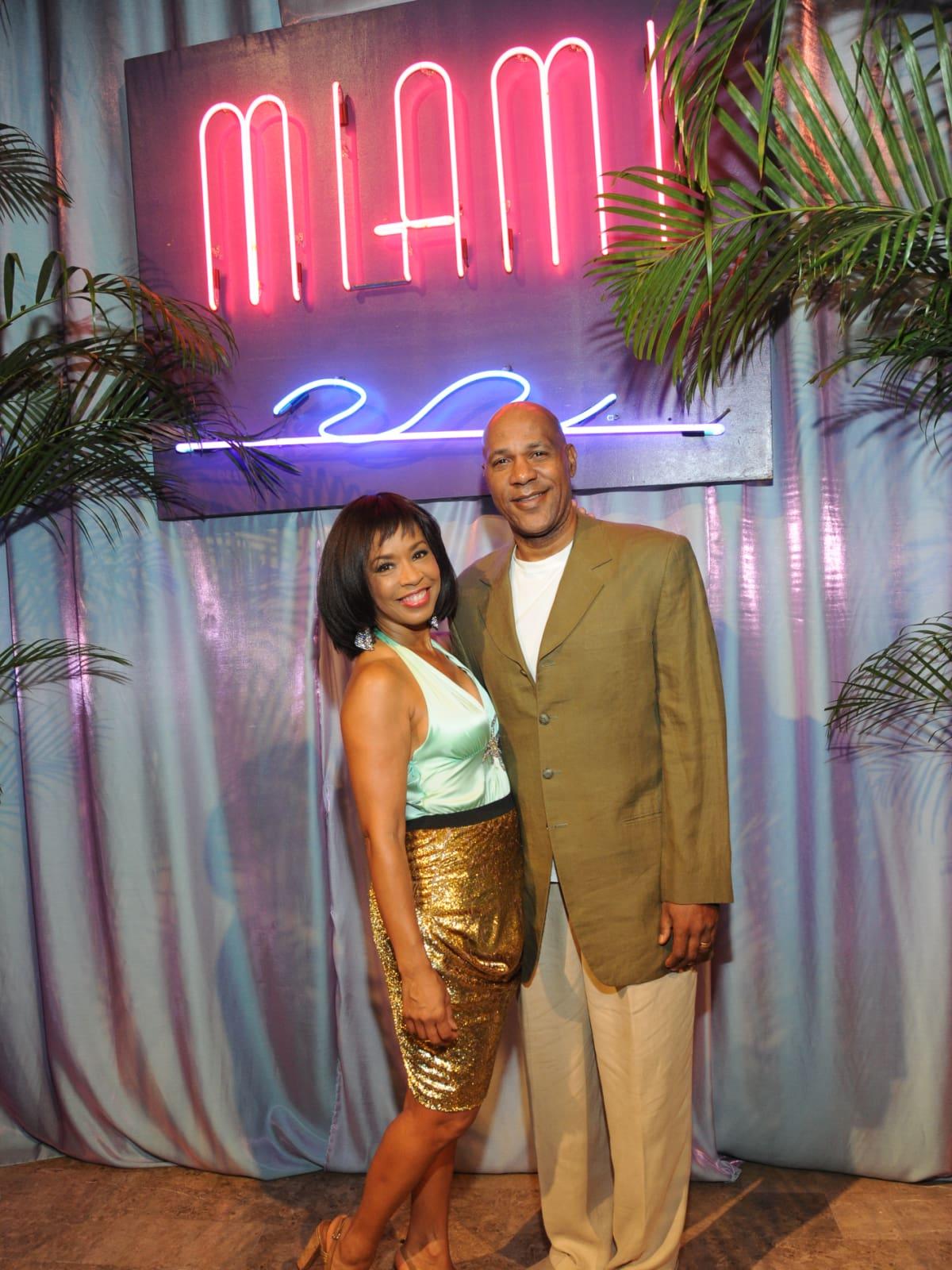 Gina Gaston and Mario Elie at Miami Vice Children's Museum Gala