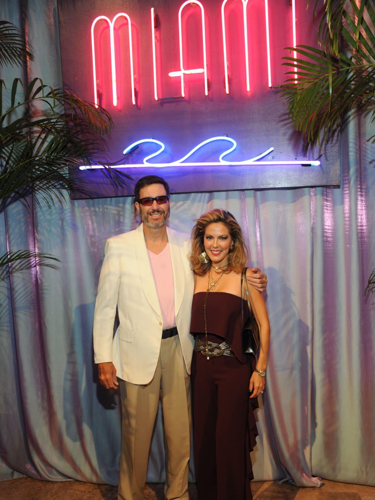 Vuk and Ofelia Vujasinovic at Miami Vice Children's Museum Gala