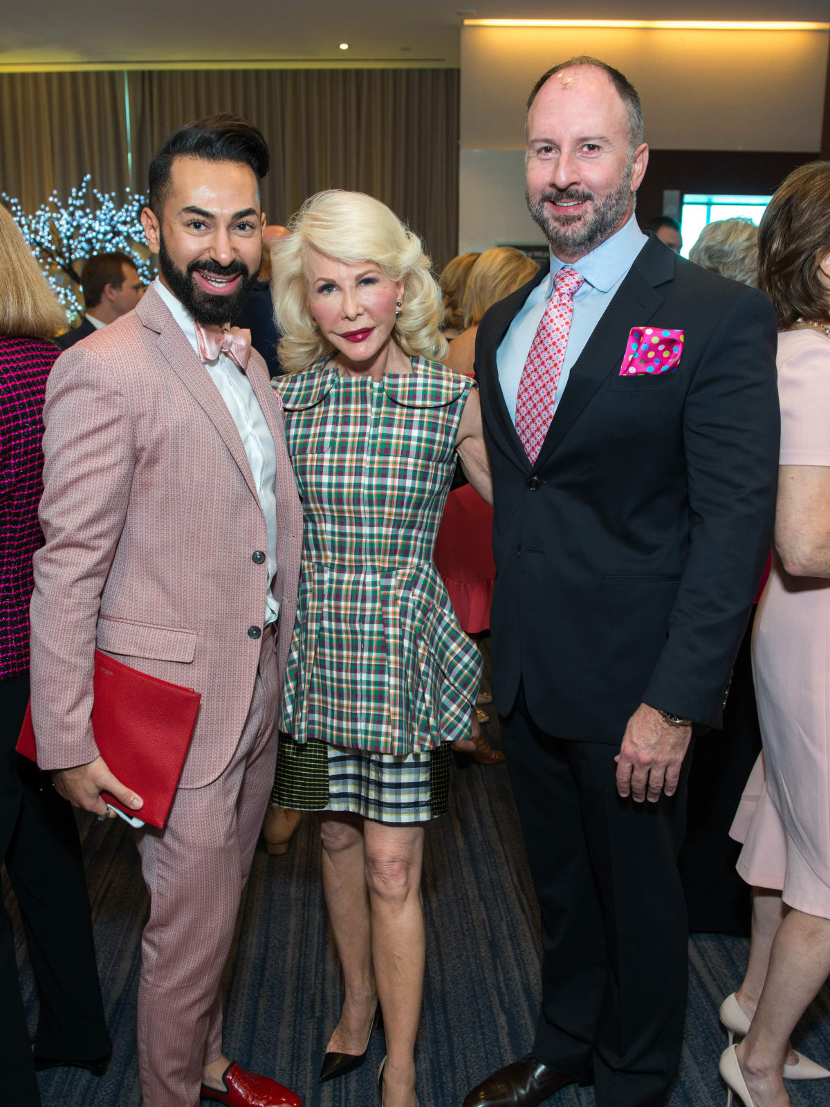 Fady Armanious, Diane Lokey Farb, Tony Bradfield at Memorial Hermann Razzle Dazzle luncheon