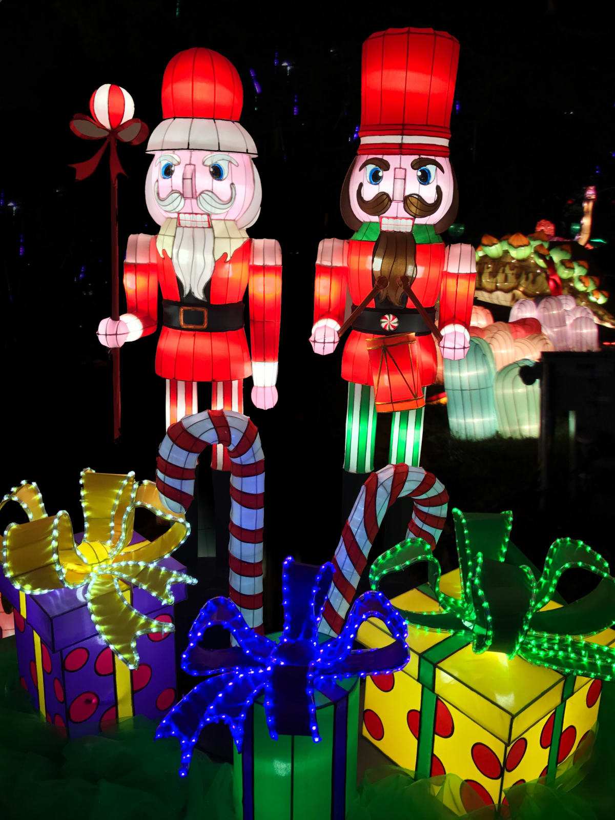 Holiday Wonder nutcrackers display