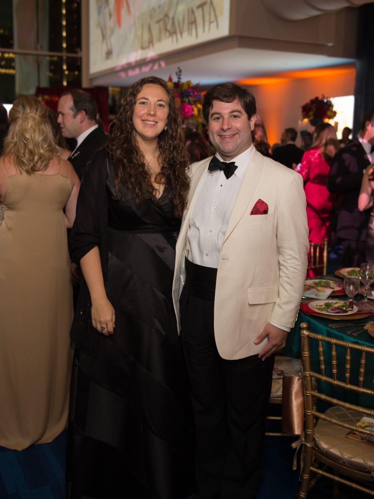 Sara and Gabriel Loperena at Houston Grand Opera opening night 2017
