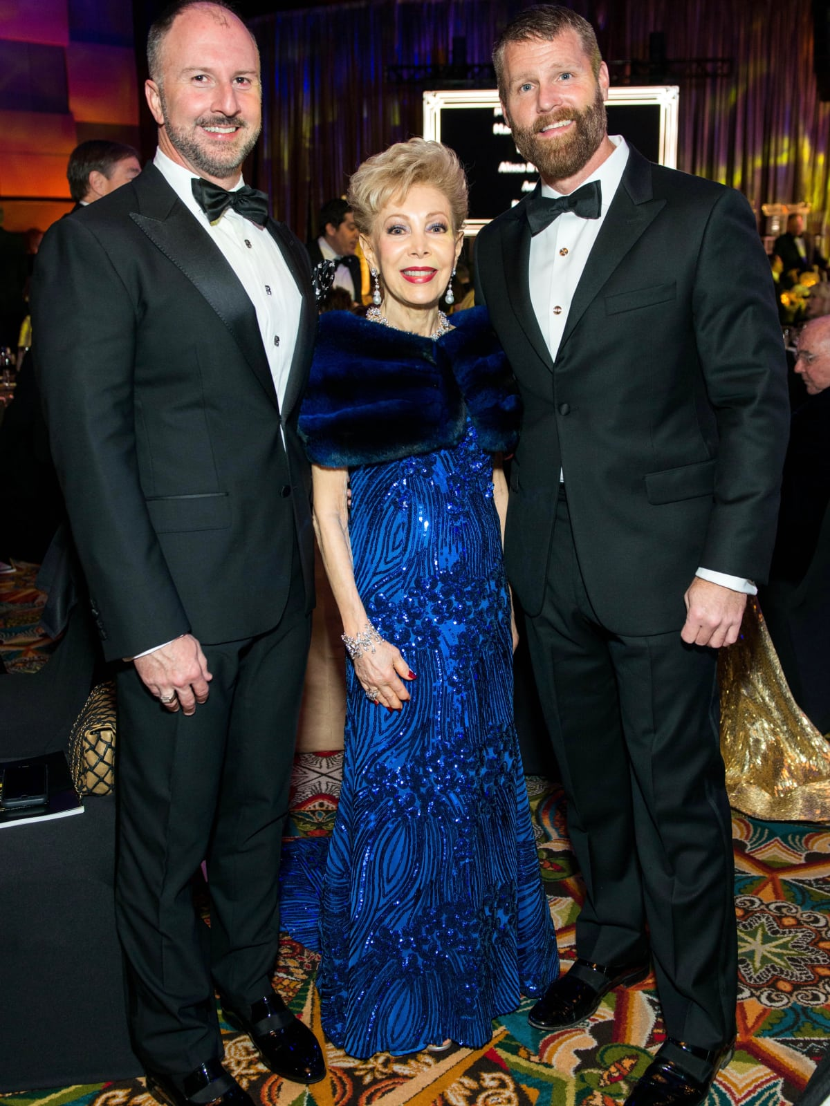 Tony Bradfield, Margaret Williams and Kevin Black Winter Ball