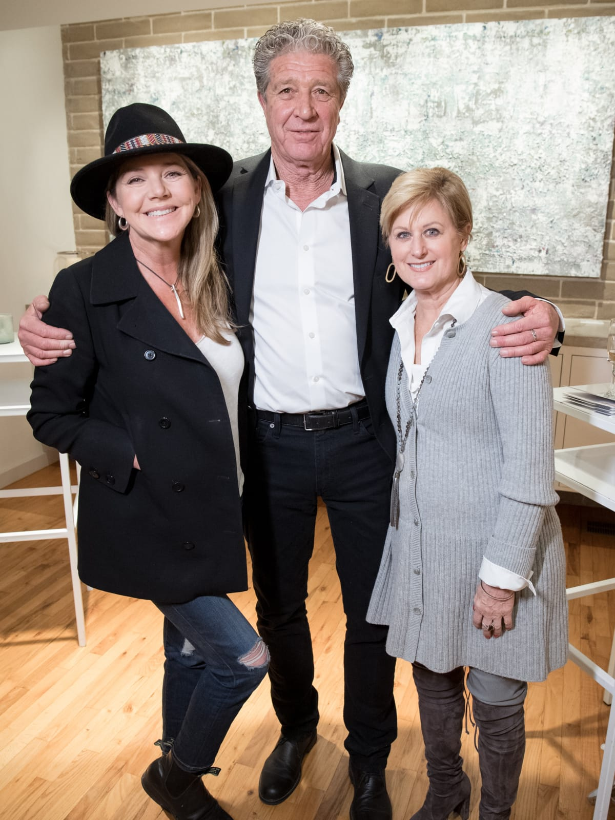 Dallas, LR Art House opening, January 2018, Mary Amons, Brad Hillinger, Kathy Leonard