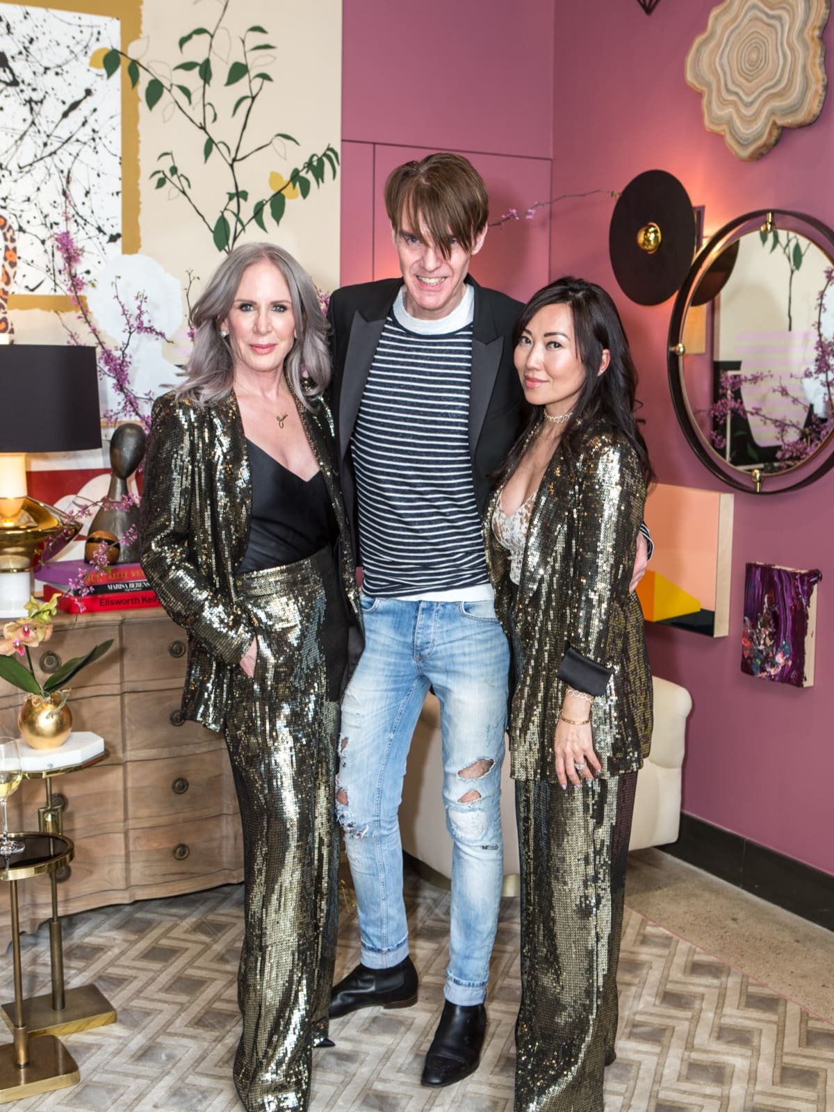 Heidi Dillon, Ken Downing, Tina Craig, Arteriors Party 2018