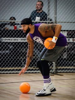Deron Williams Celebrity Dodge Barrage 2016
