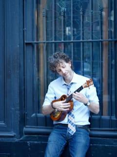 Kevin Carroll with ukulele