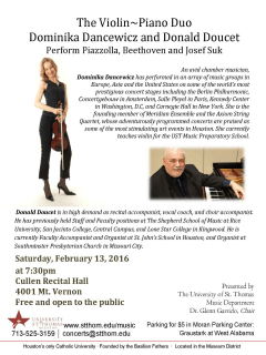 Dominika Dancewicz and Donald Doucet in concert