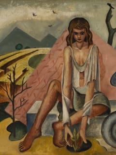 Woman and Nautilus, 1942 by Carl Benton Compton