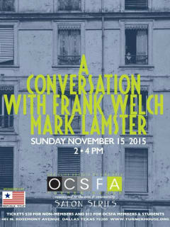 OCFA Salon Series: A Conversation with Frank Welch and Mark Lamster